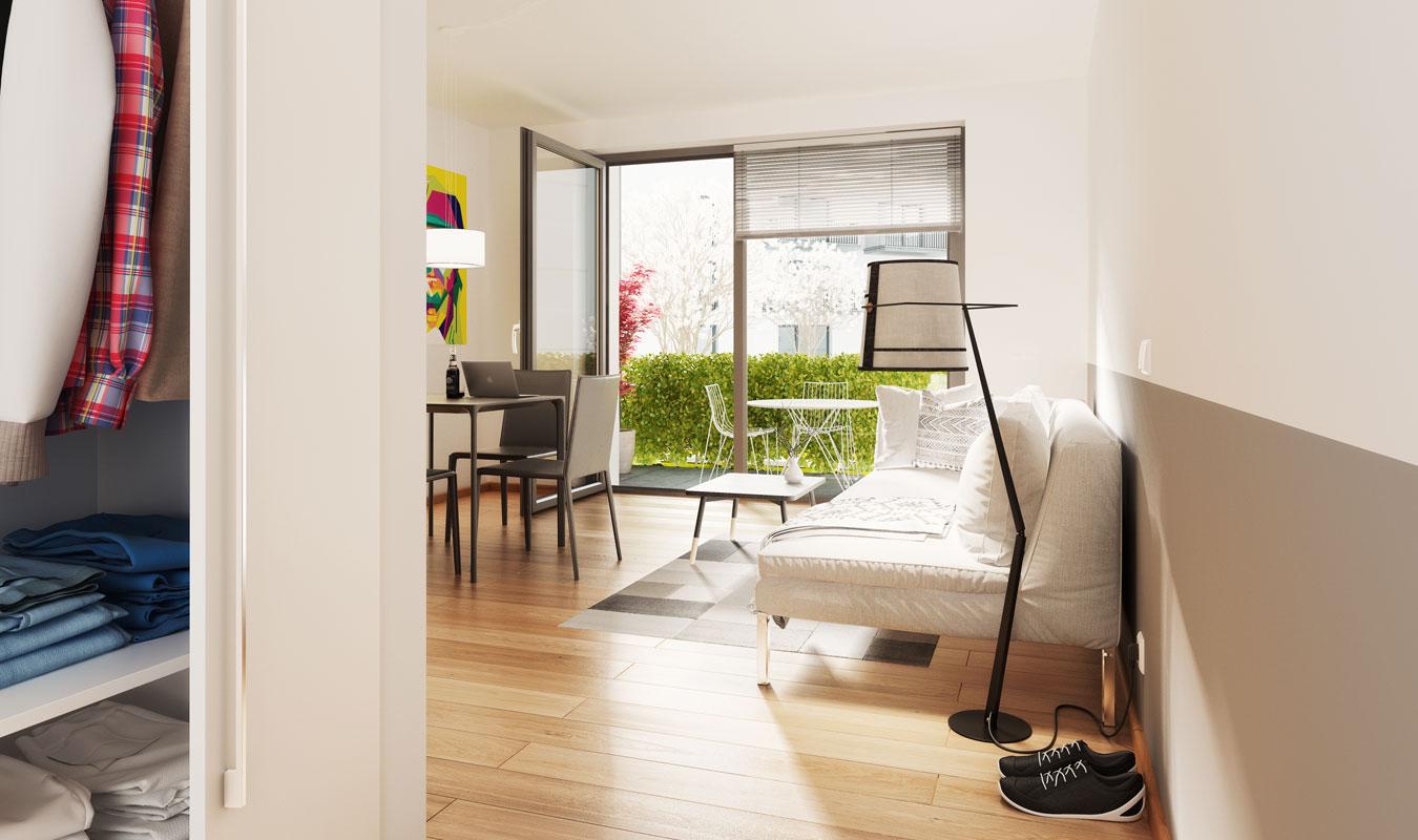 wohnungen stob usplatz regensburg urban leben. Black Bedroom Furniture Sets. Home Design Ideas